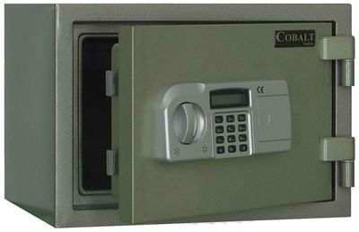 Dark Green Depository Safe With Electronic Access Keypad